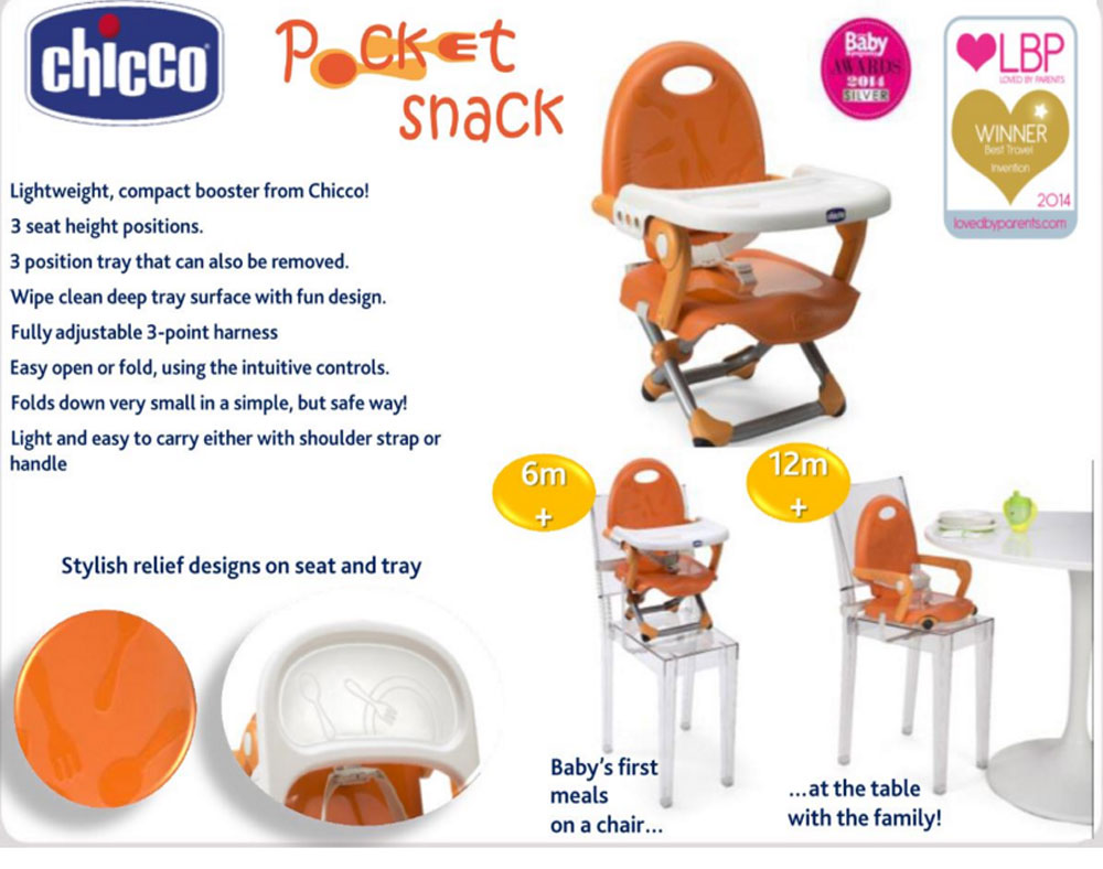 Chicco Pocket Snack Booster Seat Babysafety Ie